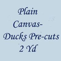Plain Cotton Canvas-54-2Yd-Pre-Cut